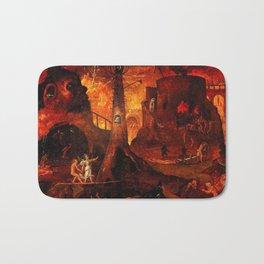 Red Hellish Landscape Bath Mat