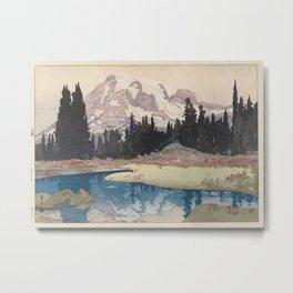 Hiroshi Yoshida - Mount Rainier, from the series The United States, 1925 Metal Print