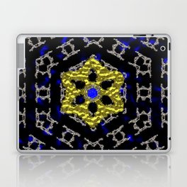 Liquid Metal Gold and Silver Mandela Laptop & iPad Skin