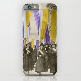 Feb 1917: On their day off, Working Women protest in front of White House for the right to vote iPhone Case