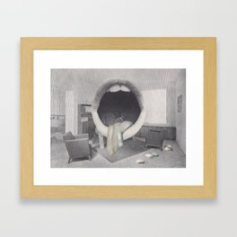 collage college infirmary Framed Art Print