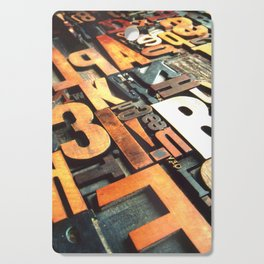 3B - Typography Photography™ Cutting Board