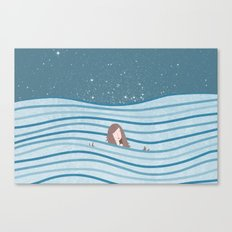 Night Swimming Canvas Print