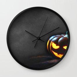 Grinning Halloween Jack O Lantern Pumpkin Head Ultra HD Wall Clock