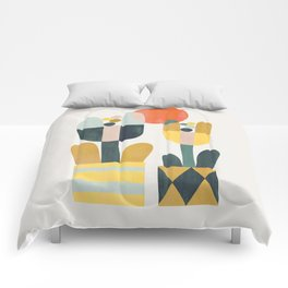 Two flowers Comforters