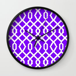 Grille No. 3 -- Indigo Wall Clock