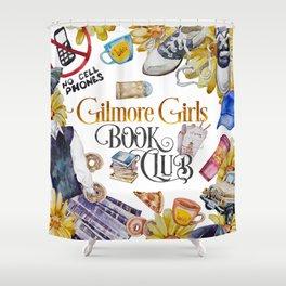 GG Book Club WhiteBG Shower Curtain