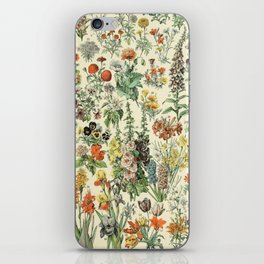 Adolphe Millot Vintage Fleurs Flower 1909 iPhone Skin