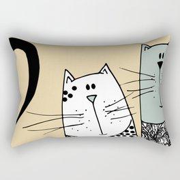 Mr & Mrs Cat Rectangular Pillow