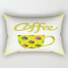 Wake Up To Coffee Rectangular Pillow