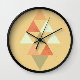 Being Mindful, Geometric Triangles Wall Clock