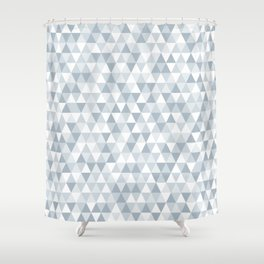 shades of ice gray triangles pattern Shower Curtain