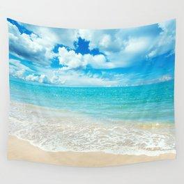 Beach - Ocean - Clouds - Water - Waves Wandbehang