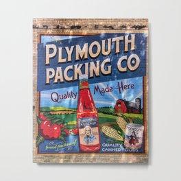 Plymouth Mural Metal Print