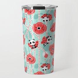 Poppy Pandas Travel Mug