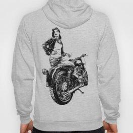 Woman Motorcycle Rider Hoody