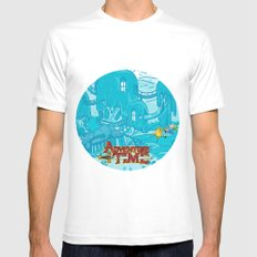 Adventure Time! MEDIUM White Mens Fitted Tee