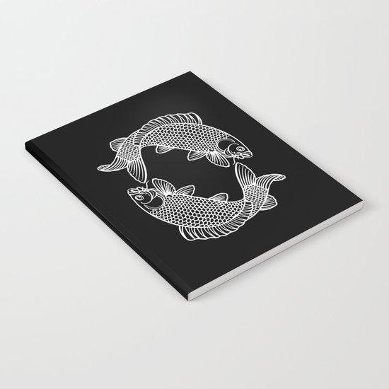 Black White Koi Notebook