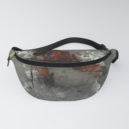 On Ice - Ice Hockey Player Modern Art Fanny Pack