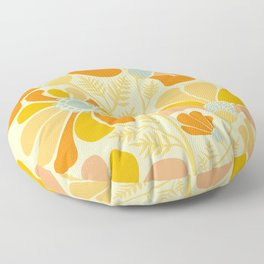 Sunny Flowers / Floral Illustration Floor Pillow
