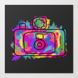 Colorful Camera Canvas Print