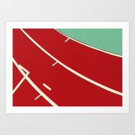 Running Track Art Print