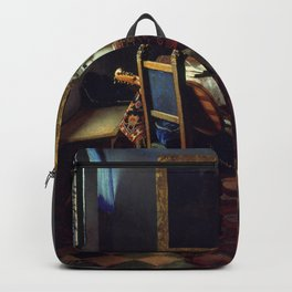 "Johannes Vermeer ""A Lady Drinking and a Gentleman"" Backpack"