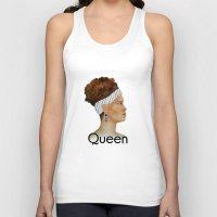 queen Tank Tops featuring Queen by Nina Bryant Studio
