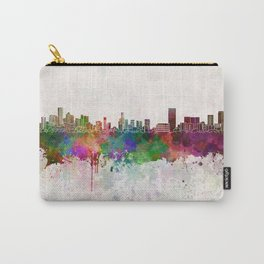 Monterrey skyline in watercolor background Carry-All Pouch