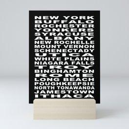 New York State Cities Bus Roll Mini Art Print