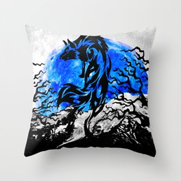 WOLF OF THE NIGHT Throw Pillow
