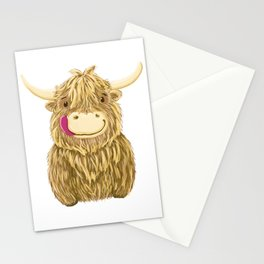 Wee Hamish Highland Cow Stationery Cards