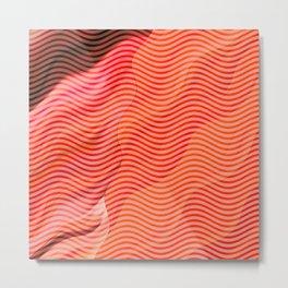 Orange wave pattern Metal Print