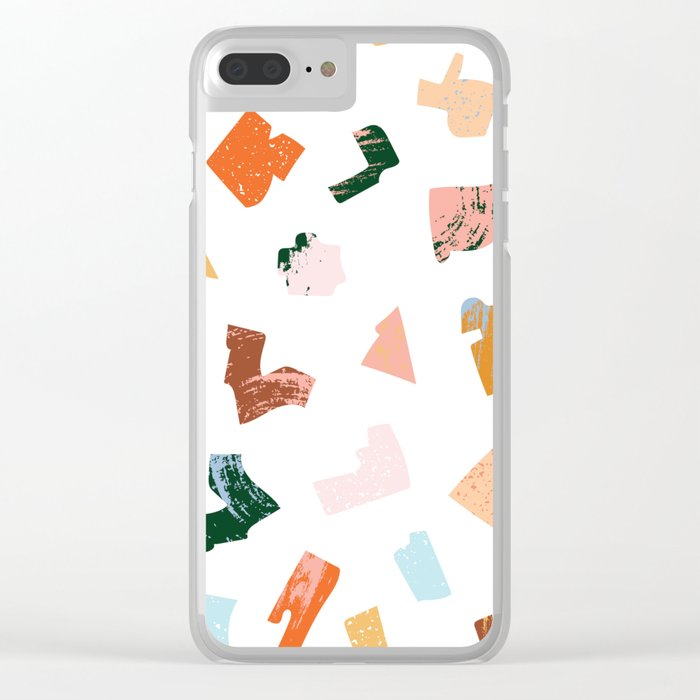 Summer Chaos Clear iPhone Case