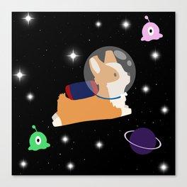 Corgi In Space Canvas Print