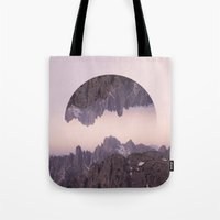 witchoria Tote Bags featuring Cliffhanger by witchoria