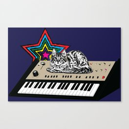 Synth Cat Canvas Print