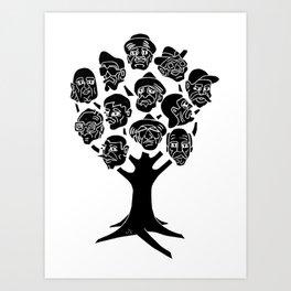 Linocut Art Print