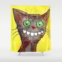 Derp Cat Shower Curtain