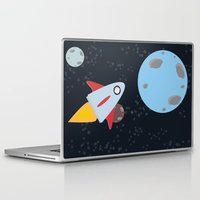 rocket Laptop & iPad Skins featuring rocket by Annretro