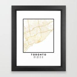 TORONTO CANADA CITY STREET MAP ART Framed Art Print