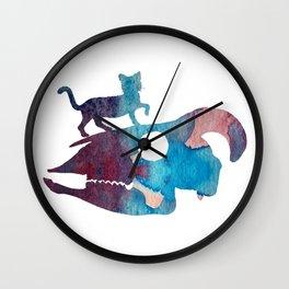 Cat Art Wall Clock