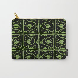 Vintage Leaf and Vines Greenery Carry-All Pouch