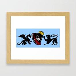 Pendragon Crest Framed Art Print