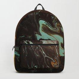 Dirty Paint Pour 3, Fluid Art Reproduction Backpack