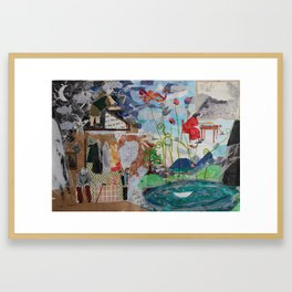 Two parallel worlds Framed Art Print