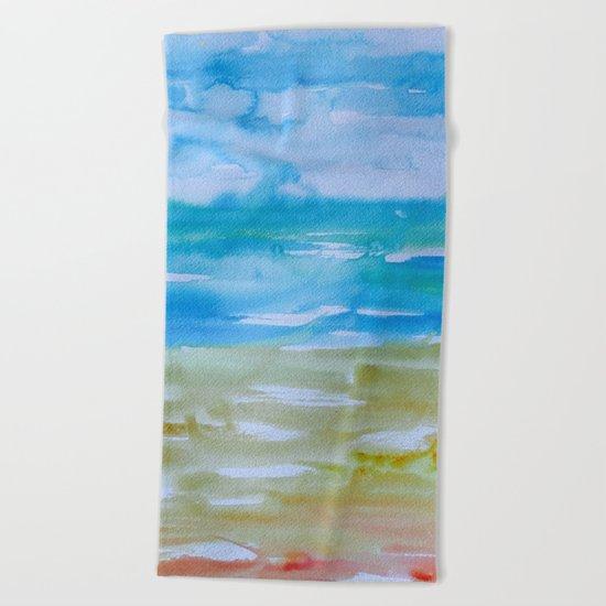 Miami Beach Watercolor #7 Beach Towel