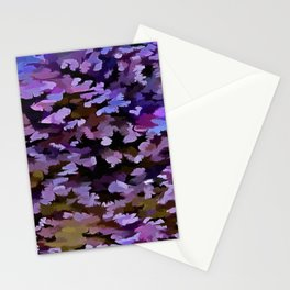 Foliage Abstract In Blue, Pink and Sienna Stationery Cards