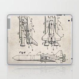 Nasa Space Shuttle Patent - Nasa Shuttle Art - Antique Laptop & iPad Skin