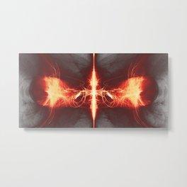 Digitales Feuer 3, (symetric2020_006d) Metal Print